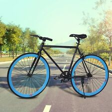 6 Color fixie bike Bicycle Road Bike Single Speed Fixie stainless steel Frame US