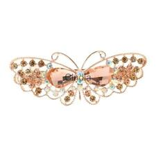 Women Luxury Hair Clips Crystal Rhinestone Bow Butterfly Hair Barrette Hairpin