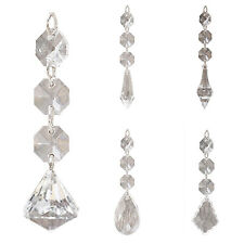 12X Acrylic Crystal Beads Drop Shape Garland Chandelier Hanging Party Decor XT60