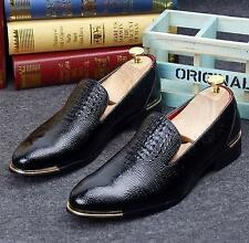 colors print Men's oxford dress formal wedding slip on loafer casual shoes