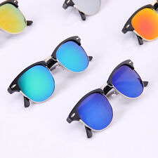 Unisex Vintage Retro Women Men Glasses Aviator Mirror Lens Sunglasses Fashion RF