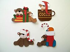 3D- U Pick - XM25 Christmas Santa Bear Holiday Gift Card Scrapbook Embellishment