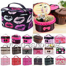 Womens Multifunction Travel Cosmetic Bag Make Up Case Pouch Toiletry Organizer