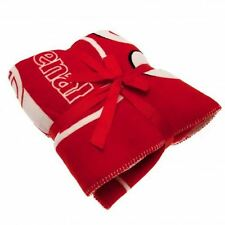 Arsenal FC Sherpa Fleece Blanket Soccer Football EPL Faux Fur Throw