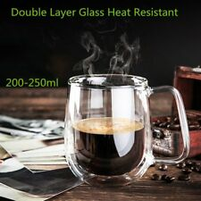 Transparent Double Layer Glass Heat Resistant Tea Coffee Mug Insulation Cup GA
