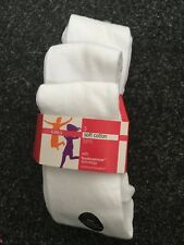 BNWT Marks and Spencers White Soft Cotton Tights x3. Girls.  Age 3-12 Years