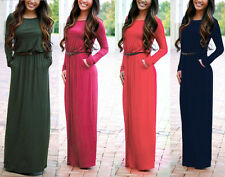 Boho Womens Maxi Dress Long Sleeve Cocktail Evening Party Casual Summer Sundress