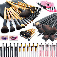 Pro 10/15/20/24 Pcs Makeup Brush Cosmetic Tool Kit Eyeshadow Powder Brush Set