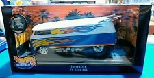 HOT WHEELS COLLECTIBLES CUSTOMIZED VW DRAG BUS 1/18 DIE CAST NEW IN BOX