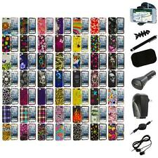 Design Hard Snap-On Rubberized Case Cover+8X Accessory for iPod Touch 5th Gen 5G