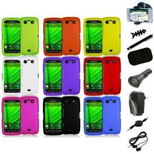 Color Hard Rubberized Case Cover+8X Accessory for Blackberry Torch 9850 9860