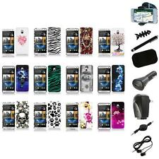 For HTC One Mini M4 Design Hard Snap-On Case Skin Cover Accessory+8X Accessory