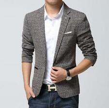 Chic Mens Slim Blazers Spring Coats Suit Casual Clothes Coats Business Jackets #