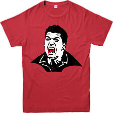 Football T-Shirt,Luis Suarez FC Barcelona Vampire Spoof,Adult and kids Sizes