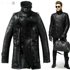 High Quality Real Shearling Jacket , Genuine Sheepskin Bomber Leather Coat