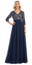 Long Mother of the Bride Dress Plus Size with Sleeves