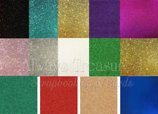 """12""""x12"""" Glitter Cardstock - 11 Colour Options Scrapbooking Card Making Craft"""