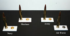 Handcrafted Army,Navy,Air Force, Marines , 50 cal.Military themed paper weights