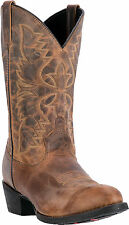 Laredo Mens Tan Birchwood Leather Cowboy Boots 12in R Toe