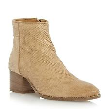 Dune Black Ladies PIAH Pointed Toe Reptile Ankle Boot in Tan