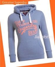 RRP £45 ~ L = Superdry New Womens Tokyo Brand Entry Hoodie Gritty Menthol Marl
