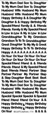 Relatives Husband Wife In Law Partner Friend Peel Off Stickers Birthday Son Mum