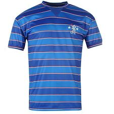 Chelsea FC 1984 Home Jersey Score Draw Mens Royal Retro Football Soccer Shirt