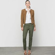 Atelier R Womens 7/8 Linen Trousers With Italian Pockets