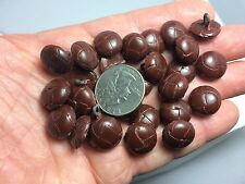 New lots of  small Leather Brown Woven Buttons  size 5/8 =15mm lot  #LX