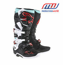 BRAND NEW Alpinestars Tech 7 Boot Black/White/Torquoise
