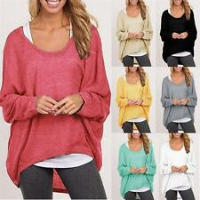2017 Fashion Autumn Women Ladies Loose long-sleeved Sweater Tops Blouse Clothes