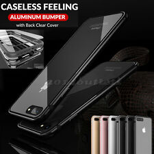 Shockproof Luxury Clear Hard Back Metallic Bumper Case Cover for iPhone 7 7 Plus