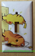 Pokemon Pikachu Battery Wall Charge Light Switch Outlet Cover Plate Home Decor