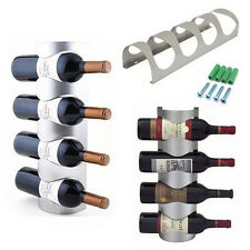Excellent Houseware Metal Wall Mounted 3/4 Bottle Wine Holder Storage Rack Aa