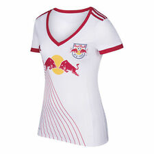 adidas New York Red Bulls NYRB MLS 2017 Womens Soccer Home Jersey White - Red