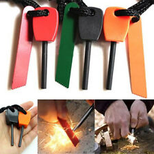 Magnesium Flint Stone Fire Starter Lighter Emergency Survival Camping Gear Kit ~