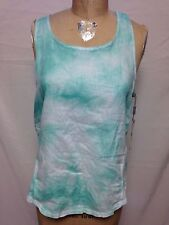 Calvin Klein Performance Tie Dye Linen Twist Back Tank PF6T3890 7AT Mint  NWT