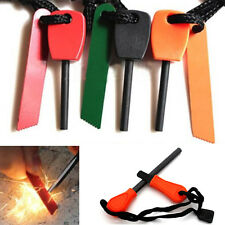 Flint Stone Rod Fire Starter Lighter Magnesium Survival Tool Kit Stick Camping