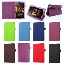 PU Leather Shell Fold Case Cover For 2016 Amazon Kindle Fire HD 7 Inch Tablet JD