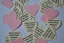 Named TABLE CONFETTI for Wake FUNERAL REMEMBRANCE CREMATION BURIAL CONDOLENCES