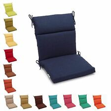 Outdoor Chair Cushions Patio Garden Zippered Pads with Ties Seat Back Pillows