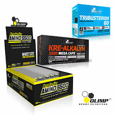 Anabolic Amino Acids + Kre-Alkalyn + Tribusteron 90-180Caps Testosterone Booster