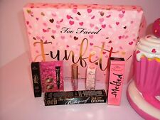 TOO FACED FUNFETTI LIPGLOSS/LIP INJECTION/MELTED FROSTING/BRONZER/LINER/CATEYES