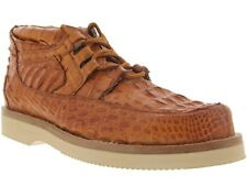 Mens Rust Cognac Brown El Presidente Crocodile Casual Exotic Dress Shoes