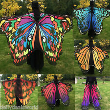 2017 Women Scarf Wrap Butterfly Wing Cape Scarf Peacock Color Pashmina Shawls
