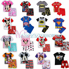 2-8Y Baby Kids Boys Girls Outfits Set Casual T-shirt + Shorts Pants 2Pcs Pajamas