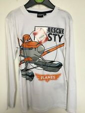 "BNWOT Disney Planes ""Dusty"" Long Sleeve White T-Shirt. Boys.  Age 5-8 Years"