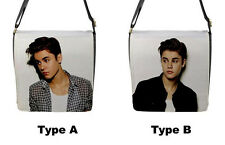 New Justin Bieber Photo School Work Flap Closure Messenger Bag Removable Cover
