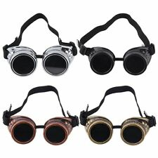 HOT Goggle Cyber Steampunk Glasses Vintage Retro Welding Punk Gothic Victorian~