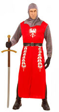 MENS MEDIEVAL KNIGHT COSTUME CHAINMAIL ARMOUR FANCY DRESS TEMPLAR CREED OUTFIT
